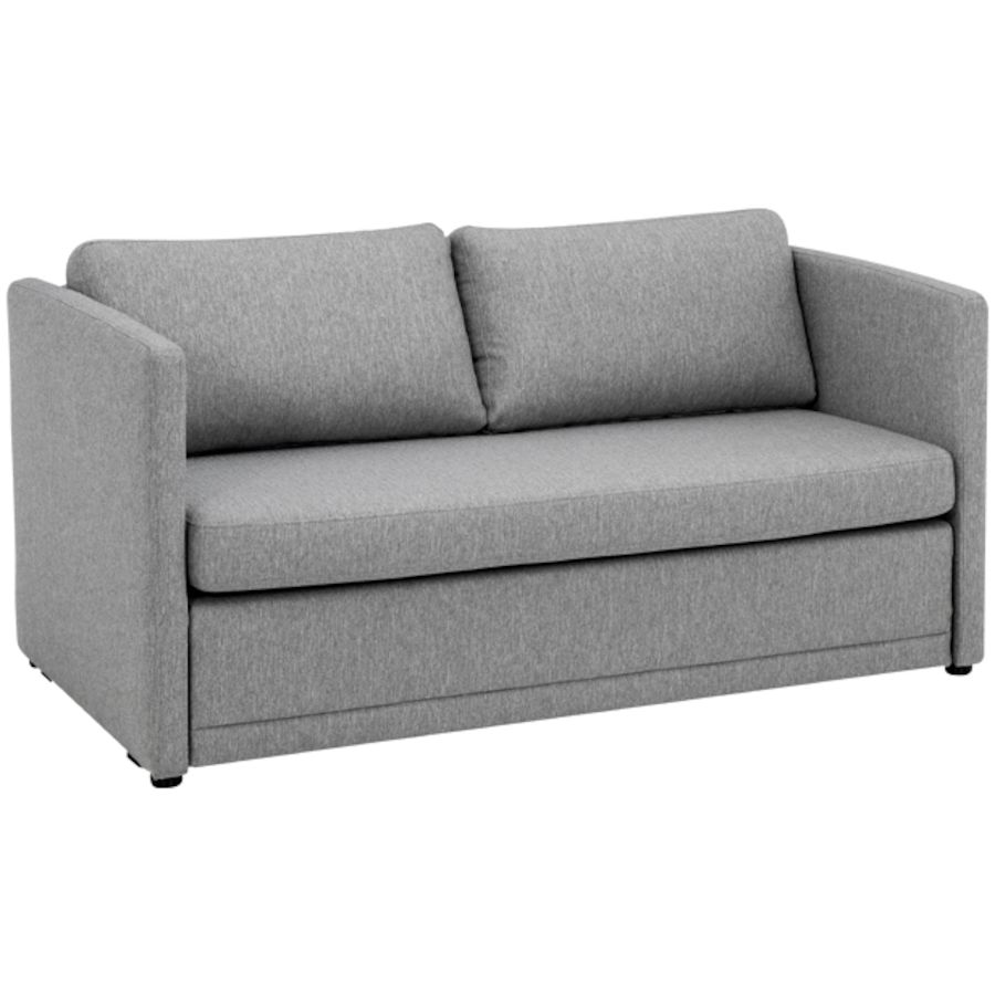 Bett Sofa Livique Bettsofa Stoff Grau