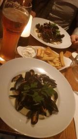 musslor i veteöl