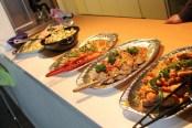 picknick-buffé hälsö fisk
