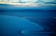 Looking north along the Los Angeles coastline.