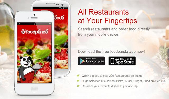 Foodpanda bisa juga diakses dengan menggunakan android atau IOS. All restaurants at our fingertips now