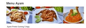 Ayam Goreng Fresto Cryspi, salah satu makanan yang bisa diorder lewat foodpanda