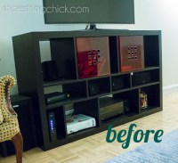 Paint Ikea Furniture: Updated TV Stand - Shoestring Chick