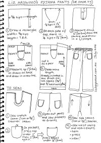Free pattern: pajama pants (or shorts) - The Craft of Clothes