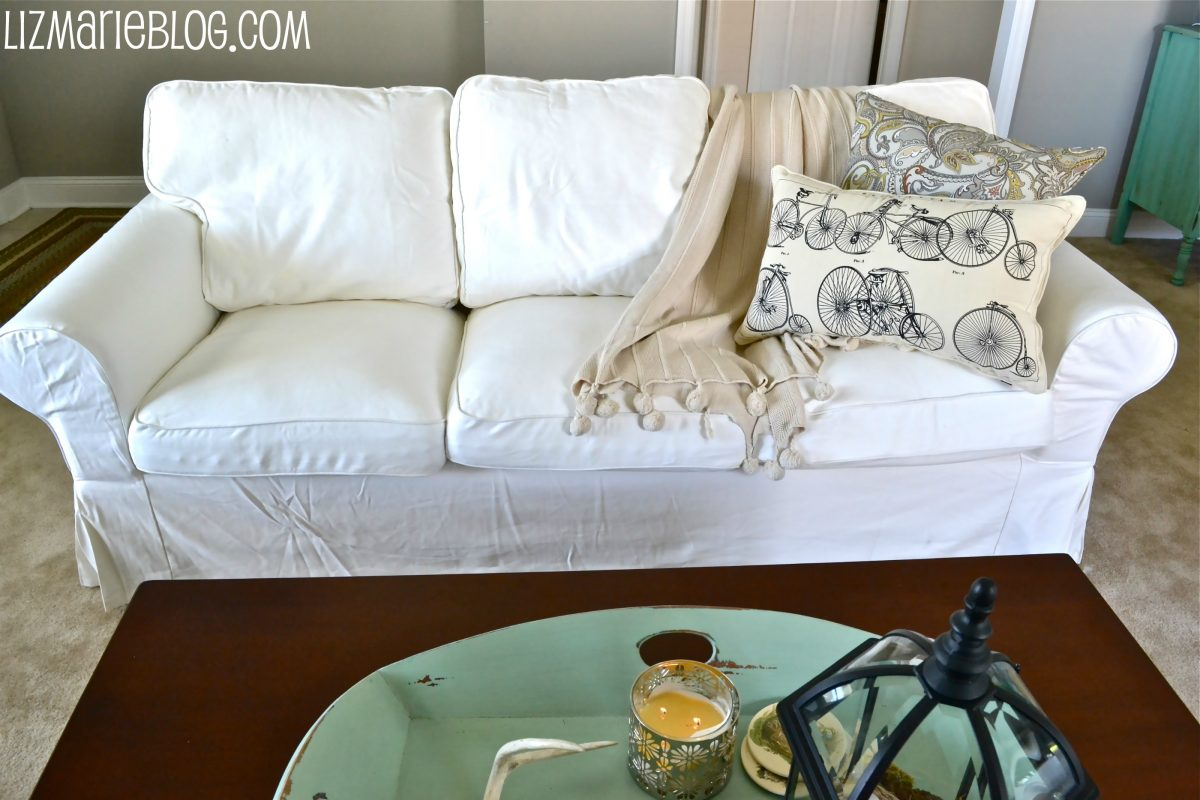 Ektorp Sofa Vittaryd White New White Slipcover Ikea Couches Liz Marie Blog