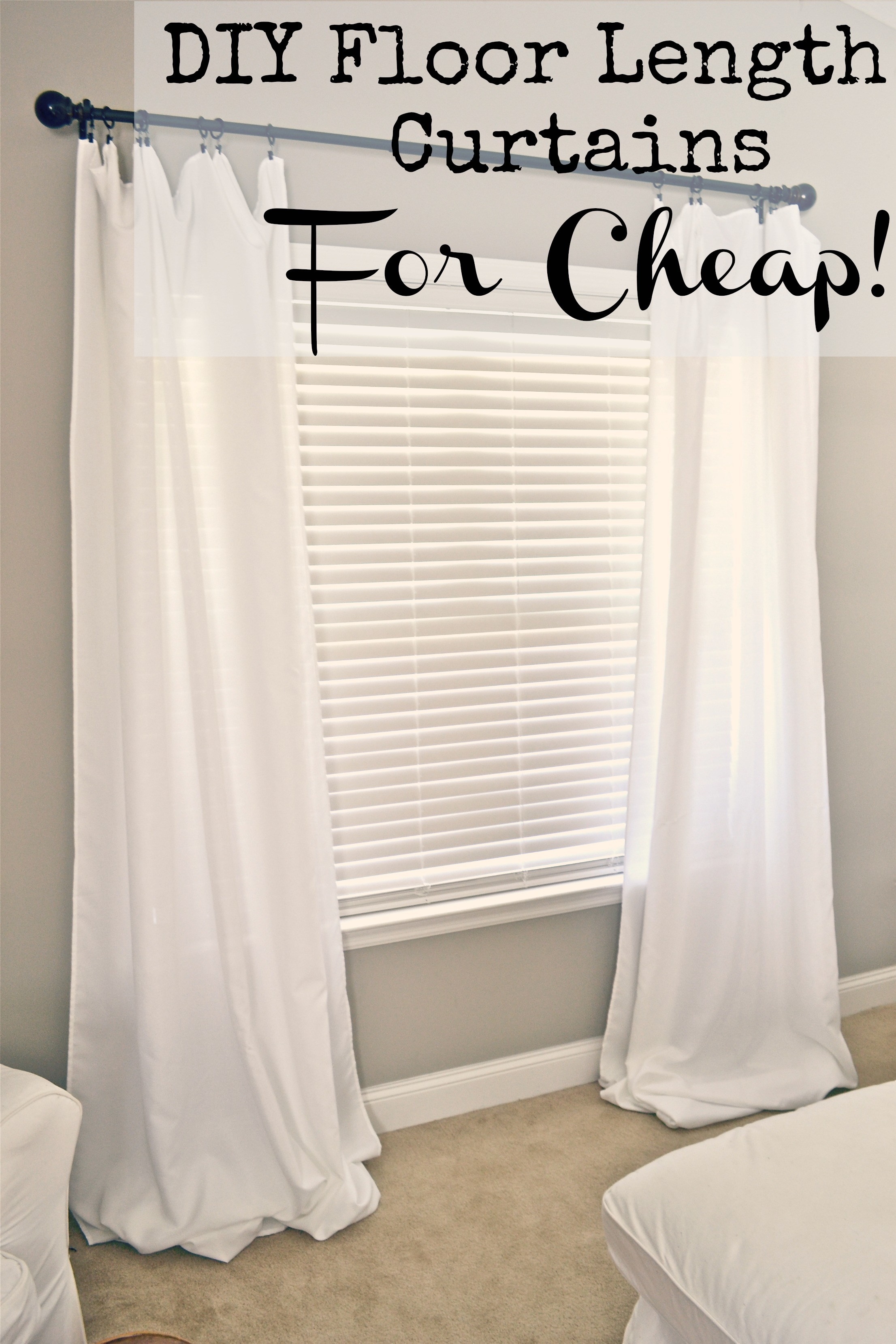 Where Can I Buy Cheap Curtains Diy Floor Length Curtains Liz Marie Blog