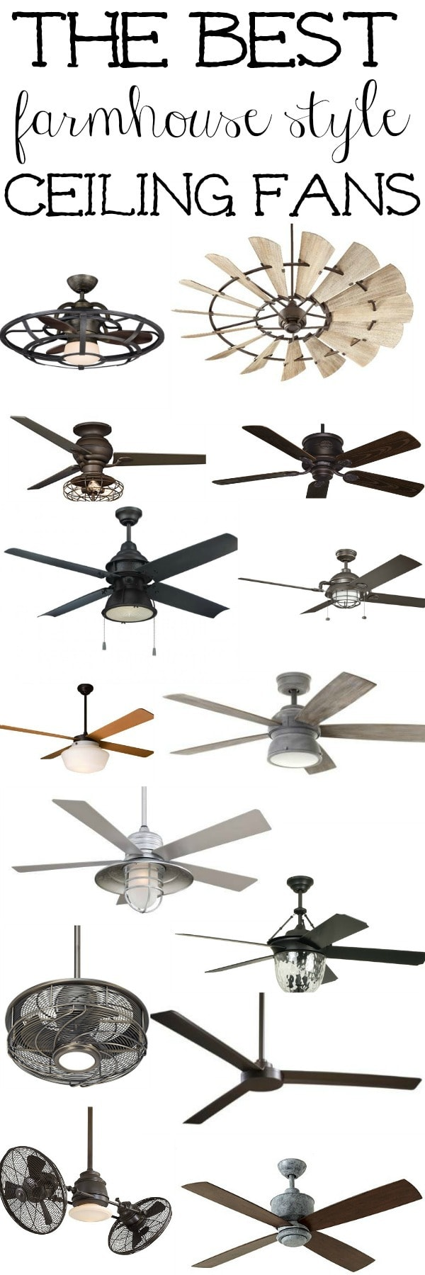 Ceiling Fans With Good Lighting The Best Farmhouse Ceiling Fans Liz Marie Blog