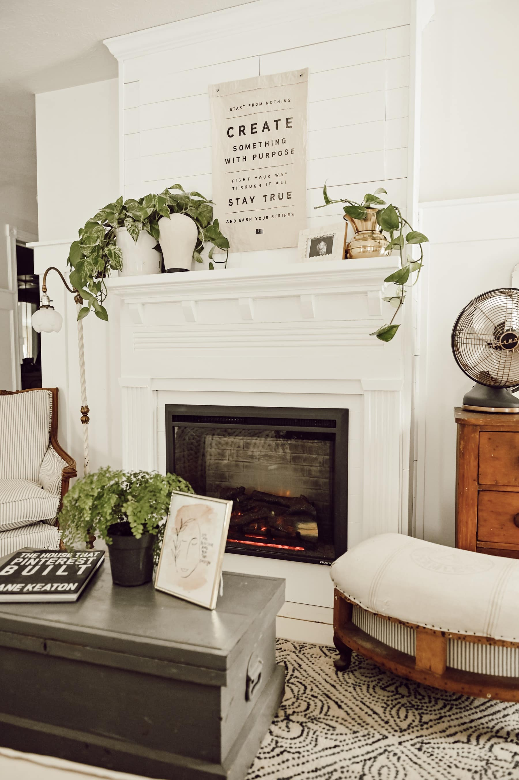 Diy Farmhouse Fireplace Liz Marie Blog