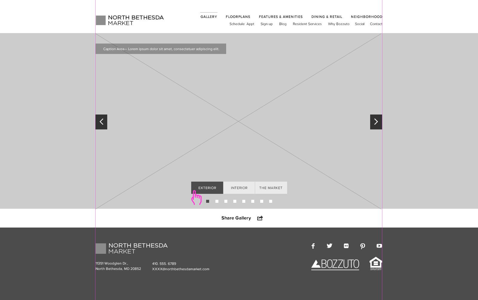 Gallery Desktop Wireframe