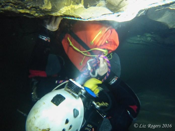 Underwater in sump 3