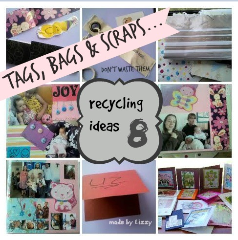 Tags, bags, repurpose, recycle, card making, scrapbooking, gift cards