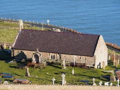 St Tudno's Church from hill