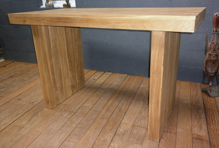 Table Et Chaises En Resine Tressee Tables Hautes|table En Teck - Table Haute - Mange Debout