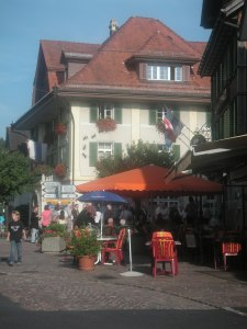 The Unterägeri Gemeindehaus across the small square from Maison Yvette