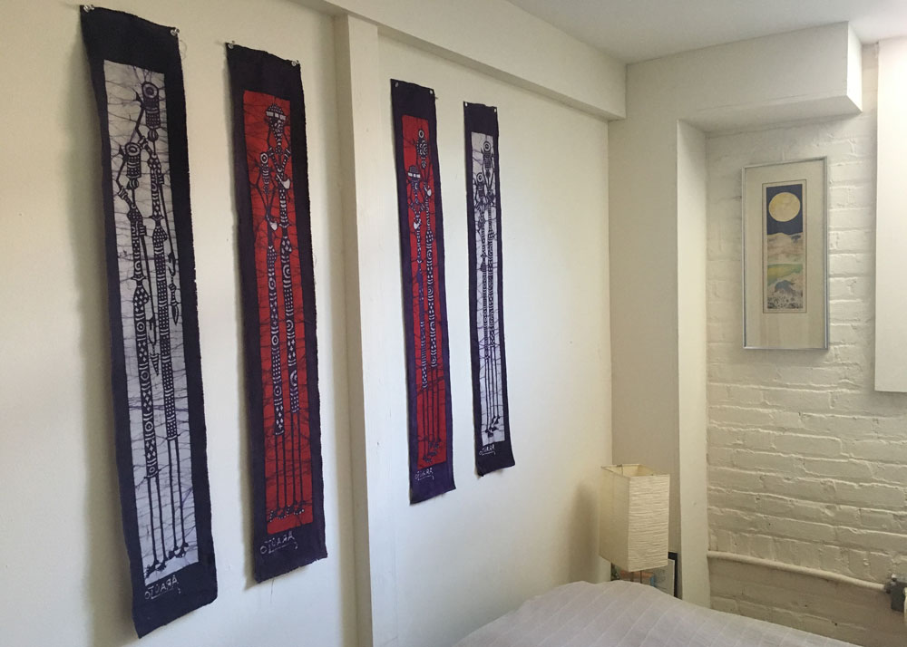 Vertical art in my bedroom.