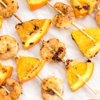 Honey Garlic and Orange Shrimp Kebabs