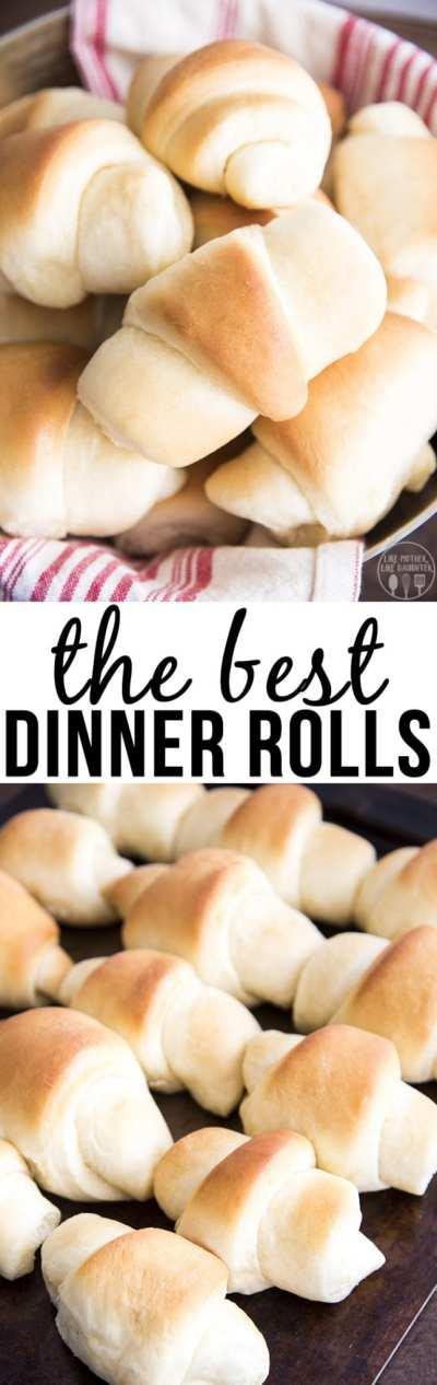 The Best Dinner Rolls - Like Mother, Like Daughter