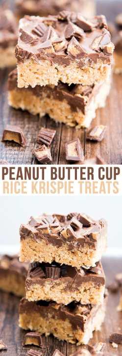 Jolly Peanut Butter Cup Rice Krispie Treats Are A Easy Chocolate Peanut Butter Rice Crispy Bars Karo Syrup With A Peanut Butter Cup Rice Krispie Treats Like Like Daughter Peanut Butter Rice Krispie Ba