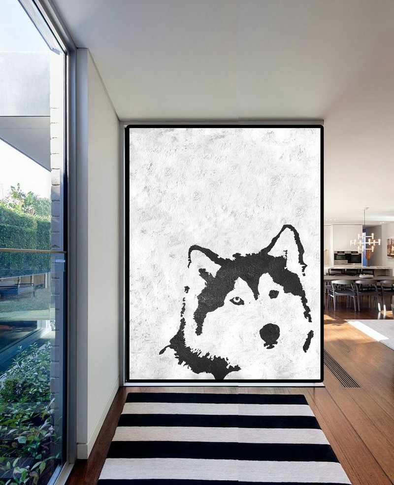 Black And White Canvas Pictures Extra Large Acrylic Painting On Canvas Minimalist Painting Canvas