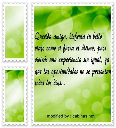 Palabras para desear a un amigo buen viaje con imágenes Cabinasnet