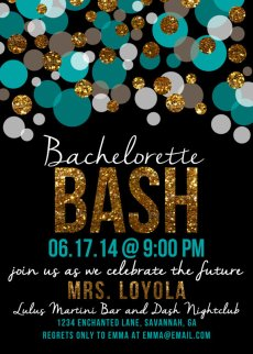 bachelorette invite
