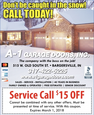 Garage Door Coupons Indianapolis Don T Be Caught In The Snow Call Today A 1 Garage Doors
