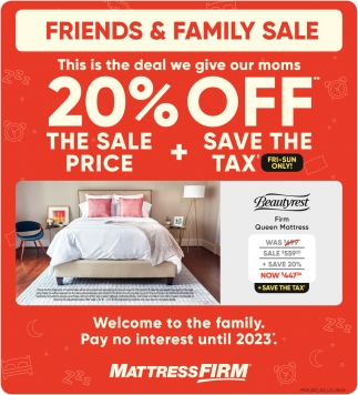 Mattress Firm Cincinnati Friends Family Sale Mattress Firm