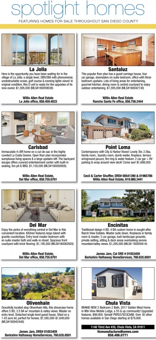 Hom In Sessel Spotlight Homes Search Homes Sd San Diego Ca
