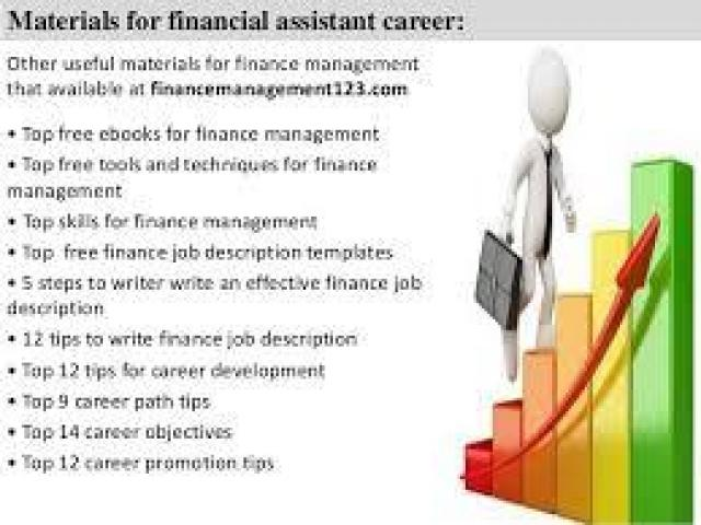 Finance assistant with a good salary Islamabad - Local Ads - Free