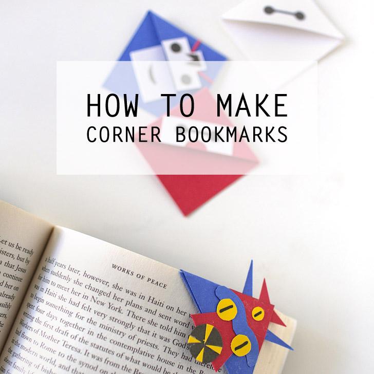 How to Make a Corner Bookmark   Big Hero 6 Characters