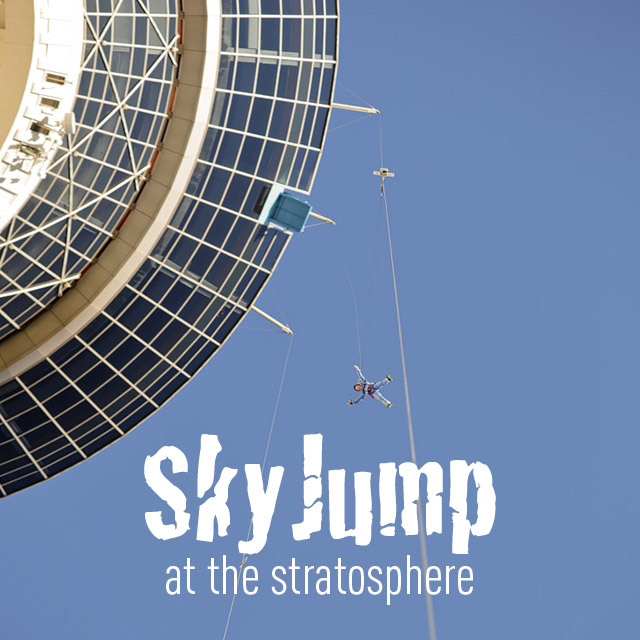 Jumping off the Stratosphere with SkyJump Las Vegas