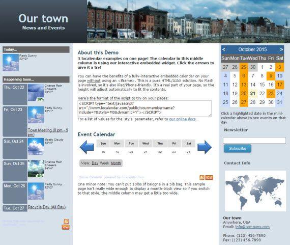 Free Online Calendar for Webmaster, School, Family, Churches - school calendar creator
