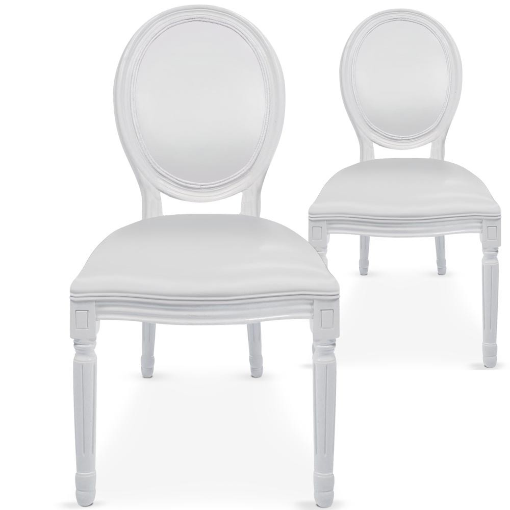 Chaises Medaillons 126 Events Location Chaise Médaillon Blanche