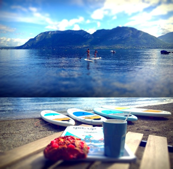 stand up paddle matin sur le lac d'Annecy NCY SUP