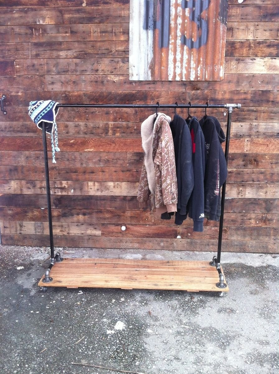Industrial Clothing Rack Ideas For Wooden Clothes Rack Loccie Better Homes Gardens Ideas