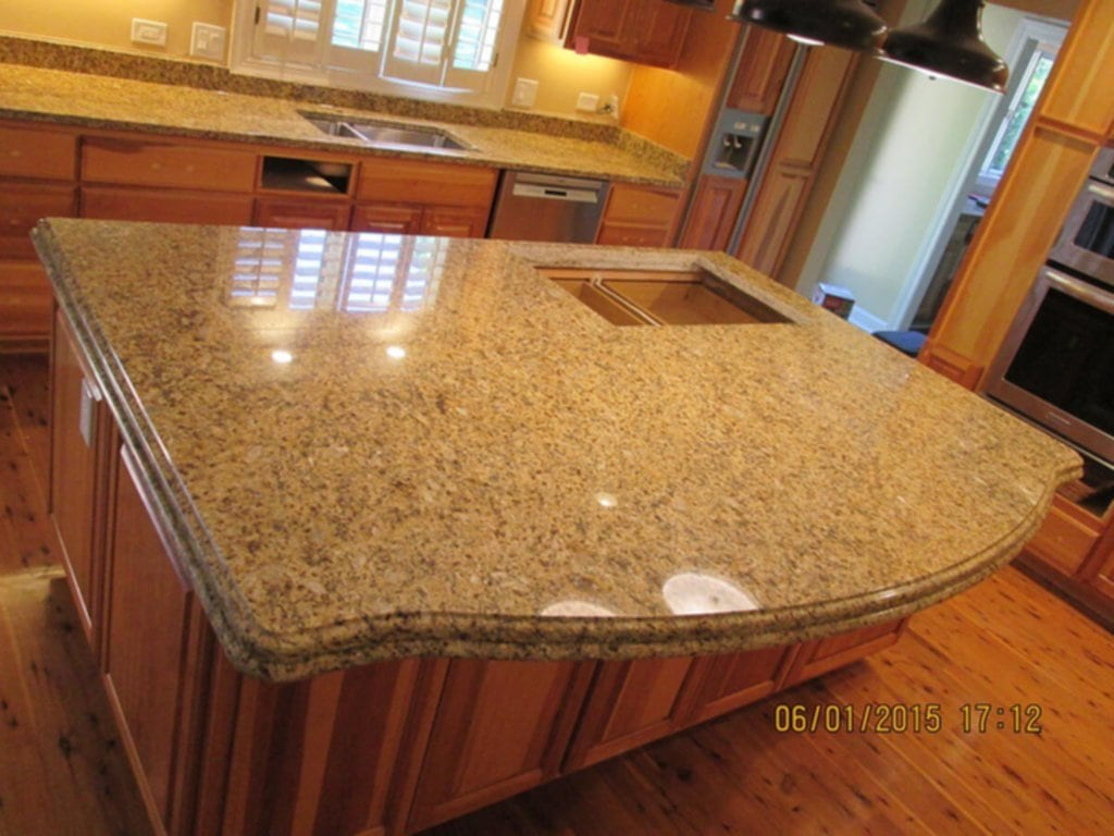 Kitchen Countertop Edges Granite Kitchen Countertop Island Crafted Countertop Ideas For