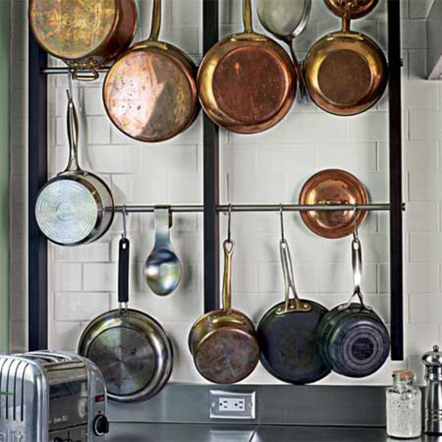Wall Mounted Pots Perfect Wall Mounted Pot Rack Loccie Better Homes
