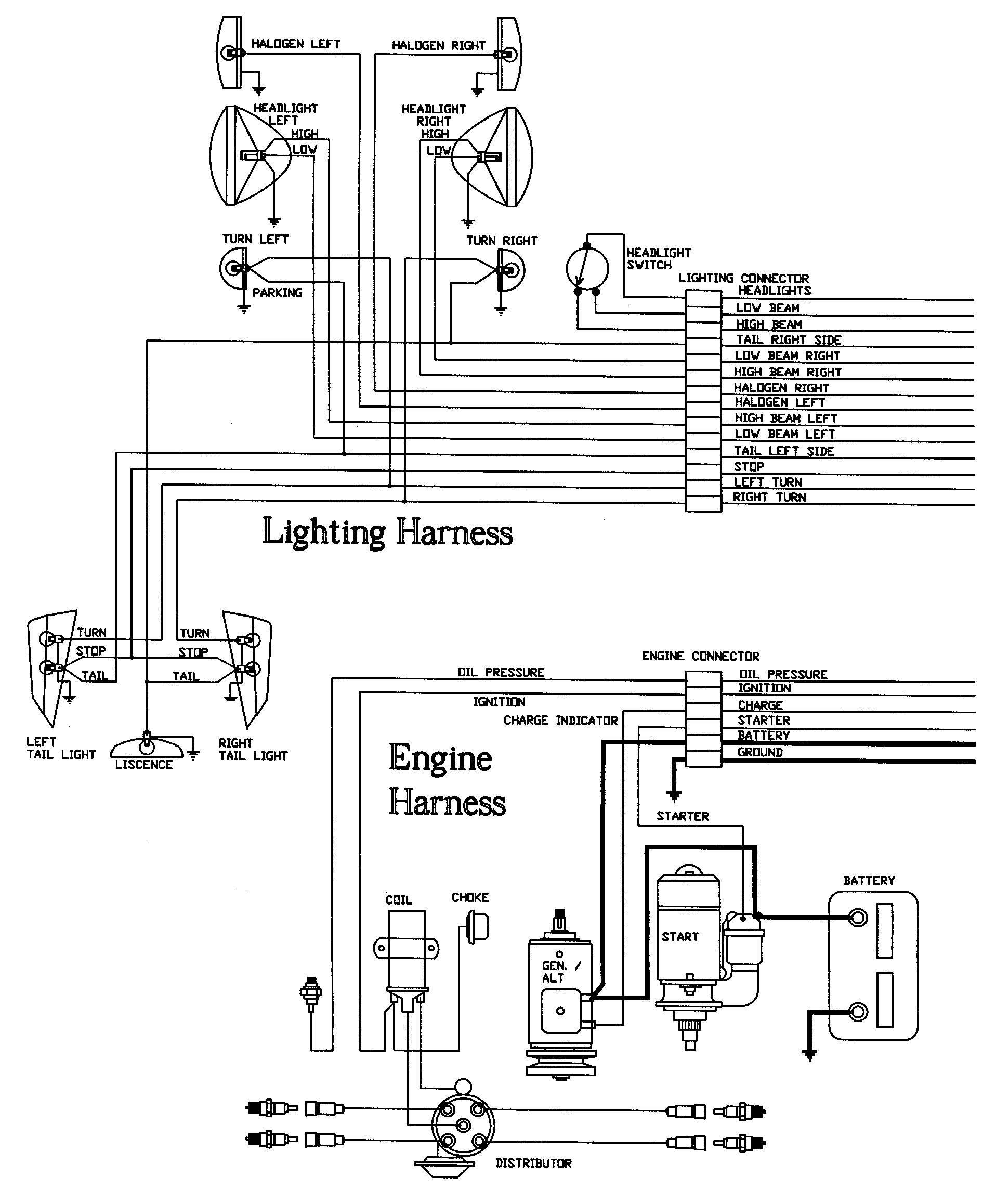 universal auto wiring harness kits