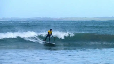 Loco SUP Rider Steve Laddiman gets sectioned at the Irish SUP Surfing Classic 2014