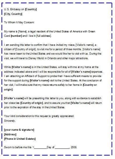Carta de invitación para visa Americana Trámites y Requisitos para