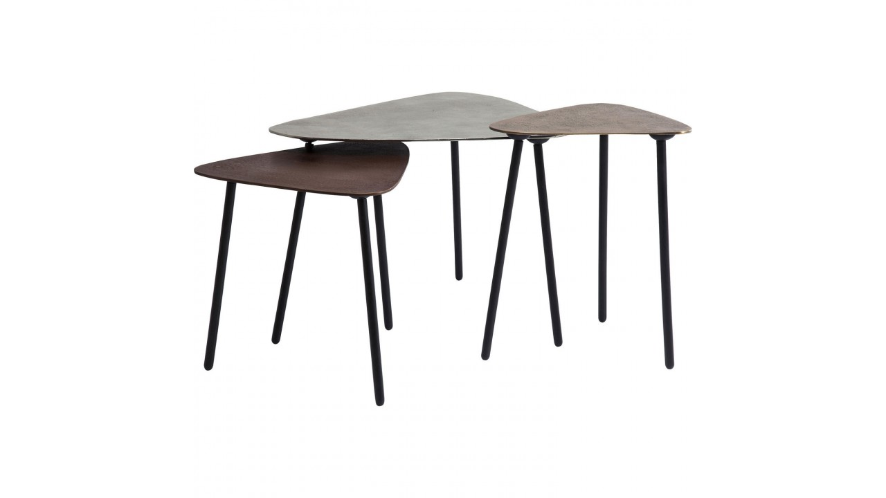 Table Basse Cuivre Table Basse Cuivre Industrielle X 3 Loft