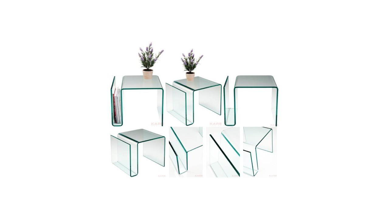Table Appoint Verre Table D Appoint Porte Revue En Verre