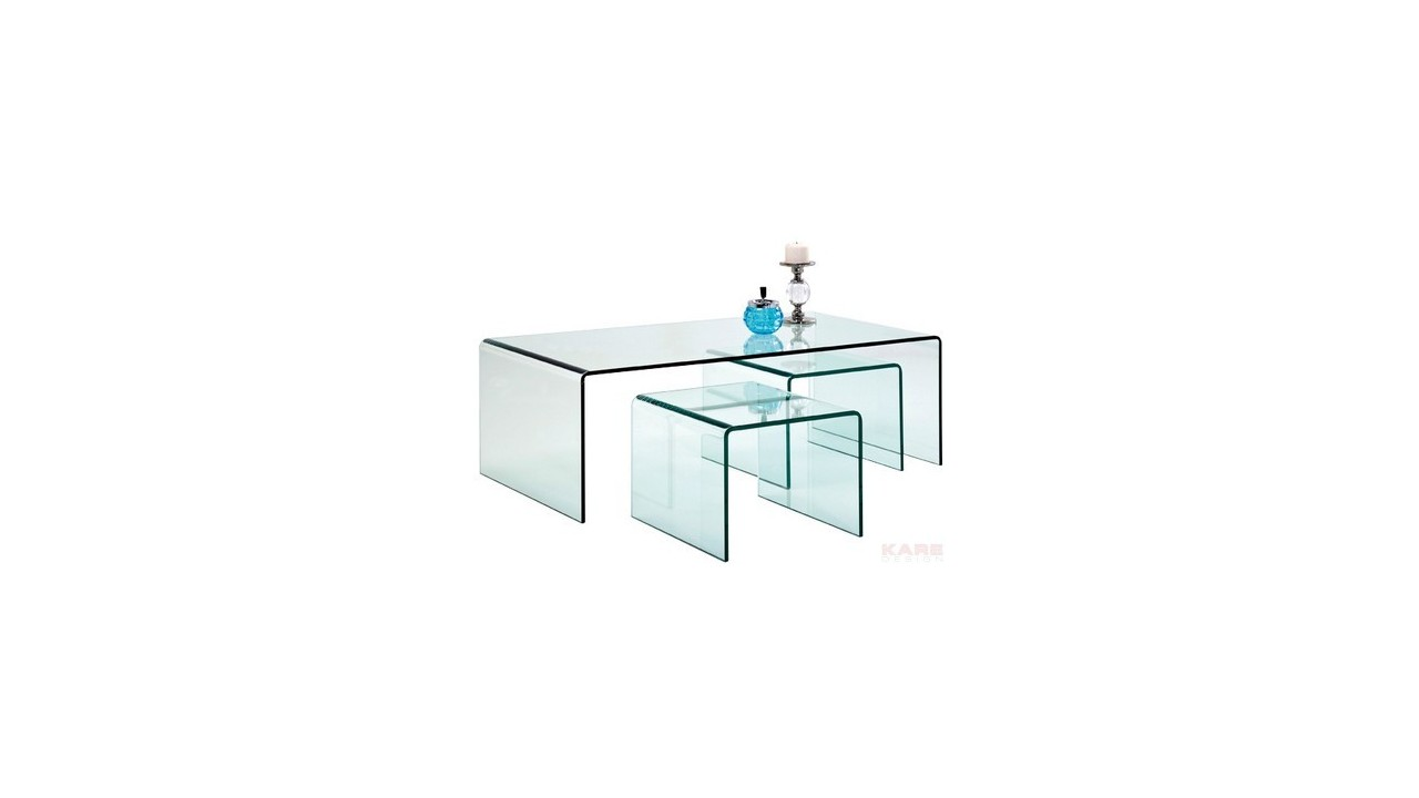 Table Appoint Verre Table Basse En Verre Avec Tables D Appoint 3 Set