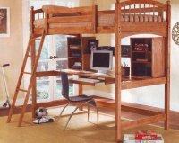 Best Deal Wood Workstation Bunkbed Bunk Bed Office ...