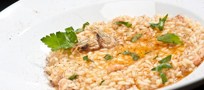 Risotto aux crevettes grises et riz maturé
