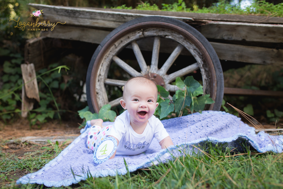 Baby Quilts Handmade Miss Kayla Is 4 Months Old » Loganberry Handmade