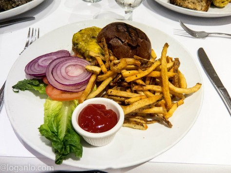 Burger at Arte Cafe in NYC