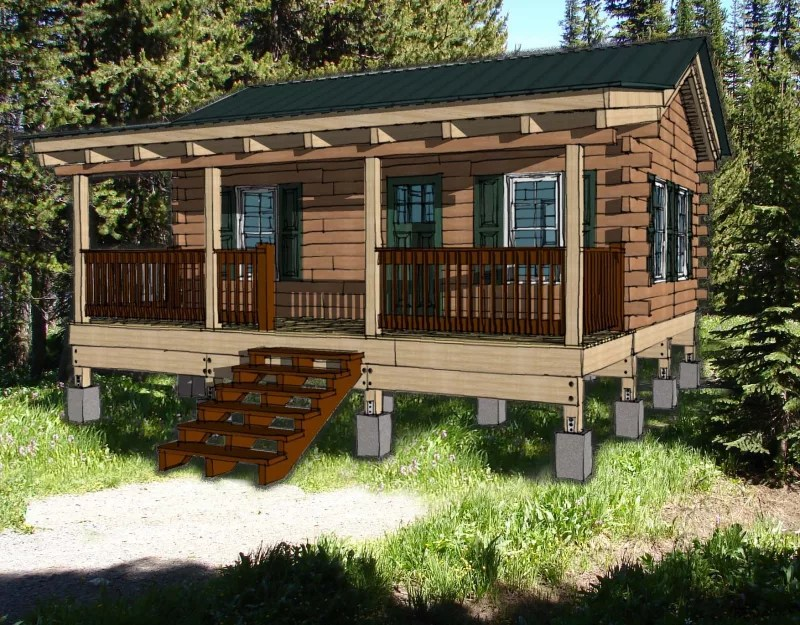 19 Wonderful 1 Bedroom Log Cabin Kits House Plans