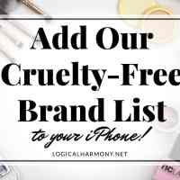 How to Add the Logical Harmony Cruelty-Free Brand List to your iPhone