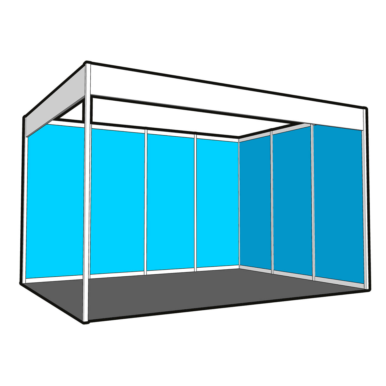 Store Banne 3x4 Graphic Roll Panels To Cover A 3x4m Corner Shell Scheme